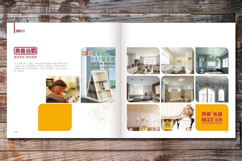 山西运城新元素品牌视觉设计公司:朗宇商贸企业画册内页设计展示